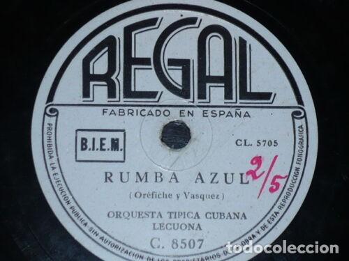Discos de pizarra: DISCO 78 RPM - REGAL - ORQUESTA TIPICA CUBANA LECUONA - CUBANAKAN - RUMBA - RARO - PIZARRA - Foto 2 - 148910342