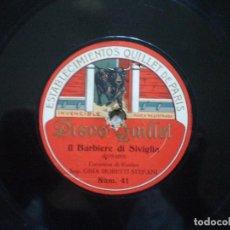 Discos de pizarra: GINA MORETTI. BARBERO SEVILLA + OLGA CARRARA. TOSCA. Lote 148950154