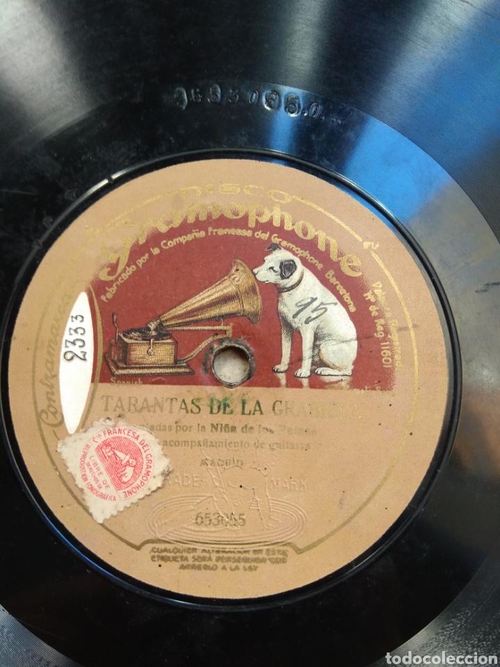 Discos de pizarra: Disco Tarantas de la Grabiela - Soleares - Niña de los Peines - - Foto 3 - 149331520