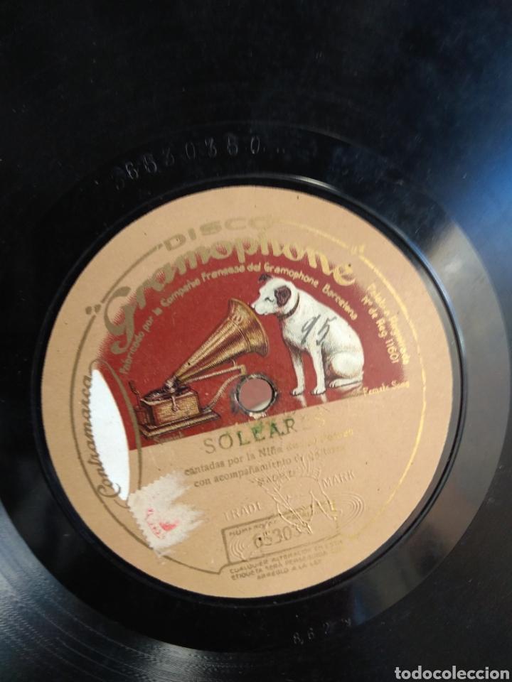 Discos de pizarra: Disco Tarantas de la Grabiela - Soleares - Niña de los Peines - - Foto 4 - 149331520
