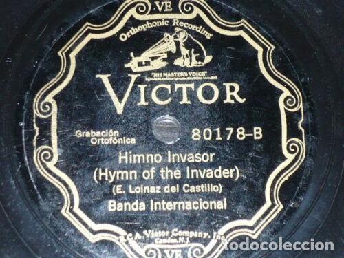 Discos de pizarra: DISCO 78 RPM - VICTOR - BANDA INTERNACIONAL - FIGUEREDO - HIMNO NACIONAL CUBANO - PIZARRA - Foto 2 - 149366414