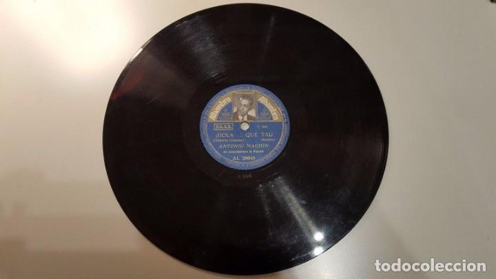 DISCO 78 RPM - ALHAMBRA FOTO - ANTONIO MACHIN - CUBA - BOLERO - YA NO PUEDO CREERLO - PIZARRA (Música - Discos - Pizarra - Solistas Melódicos y Bailables)