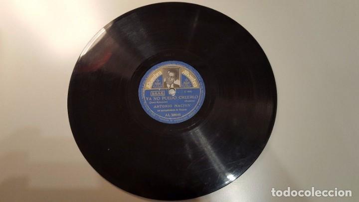 Discos de pizarra: DISCO 78 RPM - ALHAMBRA FOTO - ANTONIO MACHIN - CUBA - BOLERO - YA NO PUEDO CREERLO - PIZARRA - Foto 2 - 149373742