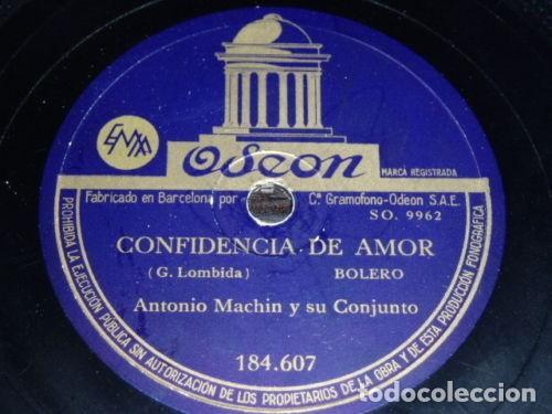 DISCO 78 RPM - ODEON - ANTONIO MACHIN - CONJUNTO - CUBA - QUE MAS PUEDO PEDIR - PIZARRA (Música - Discos - Pizarra - Solistas Melódicos y Bailables)