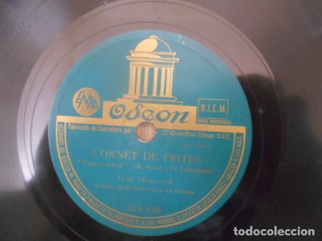 Discos de pizarra: DISCO PIZARRA ODEON , 204.430 , CORNET DE FRITES , BAL. PETIT BALIVES MONTAND . 18.6667 . - Foto 2 - 149475818