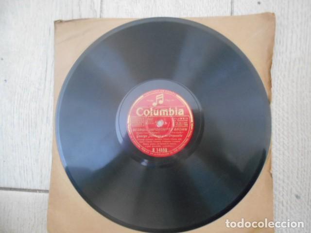 DISCO PIZARRA COLUMBIA , R 14559 , GEORGIA IMPOROMPTO BROWN FLAMINOO , GEORGE JOHNSON Y SU ORQUES (Música - Discos - Pizarra - Otros estilos)