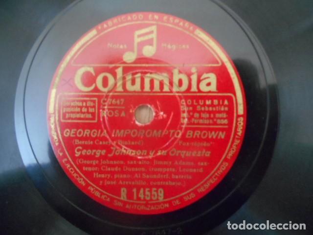 Discos de pizarra: DISCO PIZARRA COLUMBIA , R 14559 , GEORGIA IMPOROMPTO BROWN FLAMINOO , GEORGE JOHNSON Y SU ORQUES - Foto 2 - 149476550