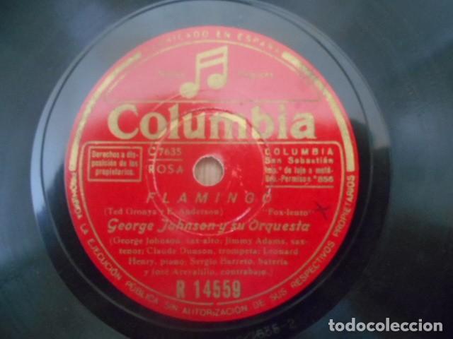 Discos de pizarra: DISCO PIZARRA COLUMBIA , R 14559 , GEORGIA IMPOROMPTO BROWN FLAMINOO , GEORGE JOHNSON Y SU ORQUES - Foto 3 - 149476550