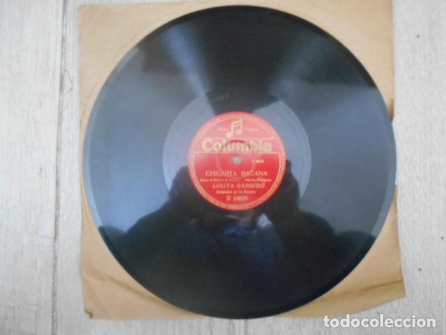 DISCO PIZARRA COLUMBIA , R 14829 , CHIQUITA BACANA , BOLERO , LOLITA GARRIDO . 186667 . (Música - Discos - Pizarra - Otros estilos)