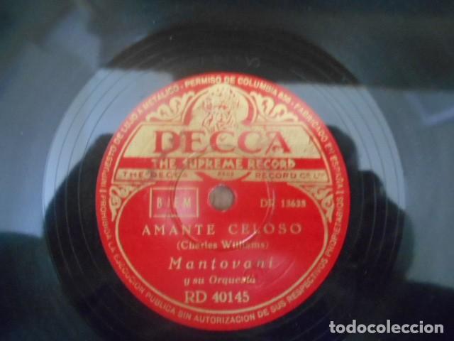Discos de pizarra: DISCO PIZARRA DECCA , RD 40145 , EL VIOLÍN HUMORÍSTICO AMANTE CELOSO , MANTOVANI . - Foto 3 - 149477758