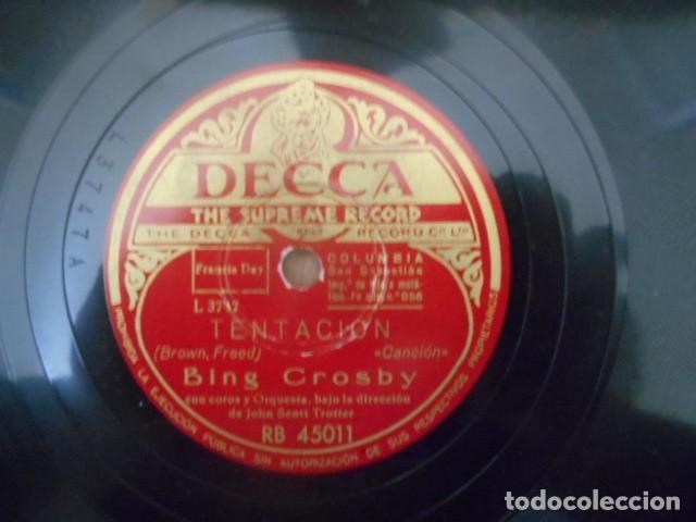 Discos de pizarra: DISCO PIZARRA DECCA , RD 45011 , TENTACIÓN , ENTRE MIS RECUERDOS . - Foto 2 - 149478046