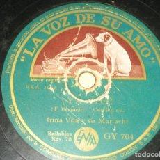 Discos de pizarra: IRMA VILA - LA MALAGUEÑA ----. Lote 149634258