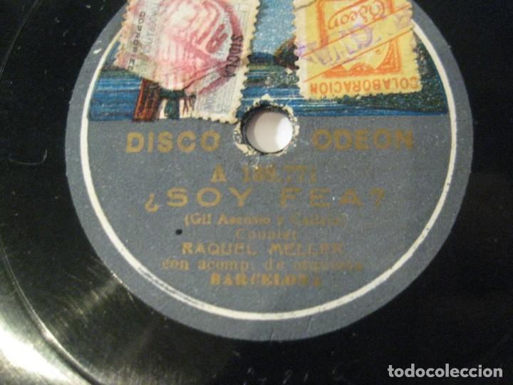 Discos de pizarra: RAQUEL MELLER, EL RELICARIO y ¿SOY FEA?, DISCO PIZARRA 25 CMS - Foto 2 - 149753002
