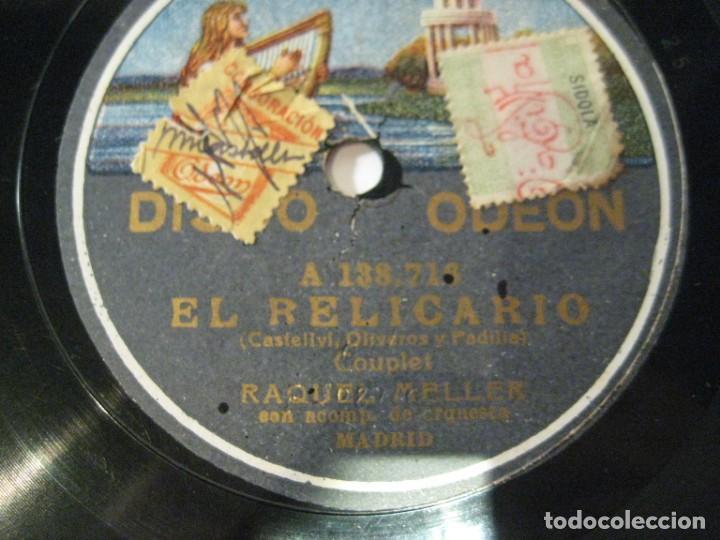 Discos de pizarra: RAQUEL MELLER, EL RELICARIO y ¿SOY FEA?, DISCO PIZARRA 25 CMS - Foto 3 - 149753002