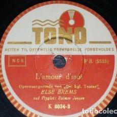 Discos de pizarra: DISCO 78 RPM - TONO - ELSE BREMS - PLAISIR D´AMOUR - L´AMOUR D´MOI - DINAMARCA - JENSEN - PIZARRA. Lote 149794718