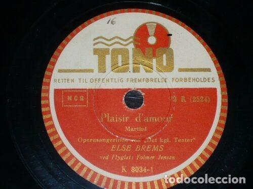 Discos de pizarra: DISCO 78 RPM - TONO - ELSE BREMS - PLAISIR D´AMOUR - L´AMOUR D´MOI - DINAMARCA - JENSEN - PIZARRA - Foto 2 - 149794718