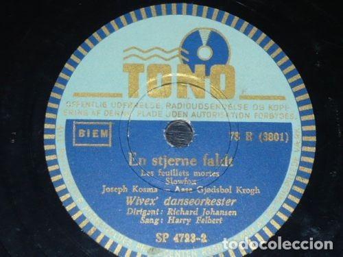 DISCO 78 RPM - TONO - HARRY FELBERT - WIVEX DANSEORKESTER - BOLERO - DINAMARCA - PIZARRA (Música - Discos - Pizarra - Solistas Melódicos y Bailables)