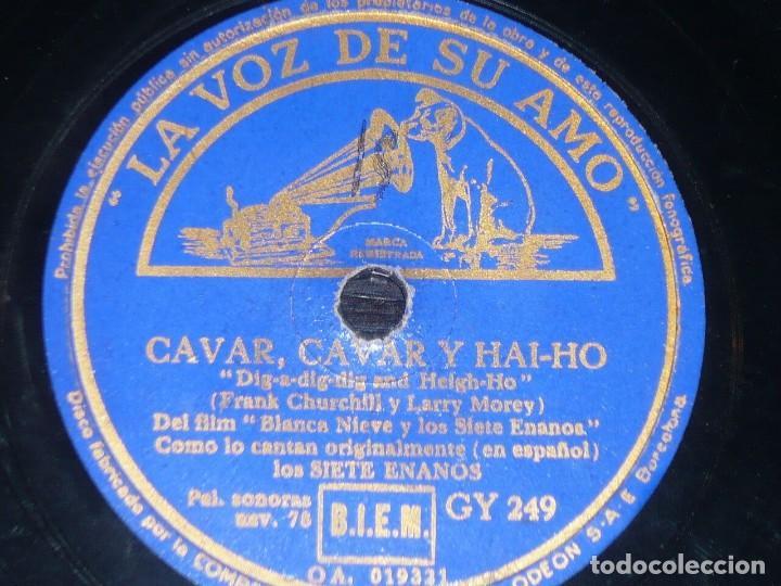DISCO 78 RPM - VSA - BLANCA NIEVES & LOS SIETE ENANOS - DISNEY - FILM - ESPAÑOL - PIZARRA (Música - Discos - Pizarra - Bandas Sonoras y Actores )