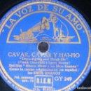 Discos de pizarra: DISCO 78 RPM - VSA - BLANCA NIEVES & LOS SIETE ENANOS - DISNEY - FILM - ESPAÑOL - PIZARRA. Lote 149873938