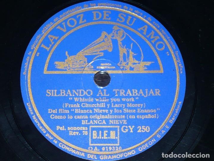 DISCO 78 RPM - VSA - BLANCA NIEVES & LOS SIETE ENANITOS - DISNEY - FILM - ESPAÑOL - RARO - PIZARRA (Música - Discos - Pizarra - Bandas Sonoras y Actores )