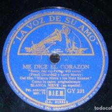 Discos de pizarra: DISCO 78 RPM - VSA - BLANCA NIEVES & LOS SIETE ENANITOS - DISNEY - FILM - ESPAÑOL - RARO - PIZARRA. Lote 149880310