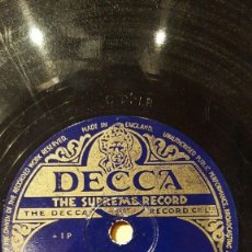 Discos de pizarra: DISCO 78 RPM - DECCA - VERA LYNN - MAJESTY´S FORCE - SOLDIERS - THE HOMING WALTZ - PIZARRA. Lote 149914562