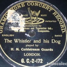 Discos de pizarra: DISCO 78 RPM - G&T BLACK - H. M. COLDSTREAM GUARDS - BAND - THE WHISTLER AND HIS DOG - PIZARRA. Lote 149915086