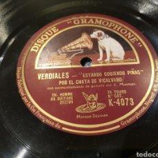 Discos de pizarra: DISCOS 78 RPM CHATA DE VICALVARO. Lote 150156794