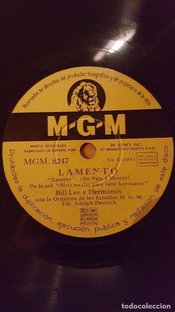 Discos de pizarra: DISCO 78 RPM - MGM - HOWARD KEEL - BILL LEE - SIETE NOVIAS PARA SIETE HERMANOS - FILM - PIZARRA - Foto 2 - 150531450