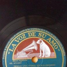 Discos de pizarra: DISCO 78 RPM - VSA - GLENN MILLER - ORQUESTA - VIUDAS DEL JAZZ - FILM - SERENATA EN AZUL - PIZARRA. Lote 150532534