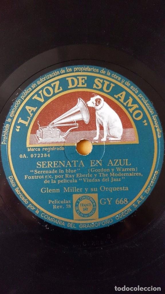 Discos de pizarra: DISCO 78 RPM - VSA - GLENN MILLER - ORQUESTA - VIUDAS DEL JAZZ - FILM - SERENATA EN AZUL - PIZARRA - Foto 2 - 150532534