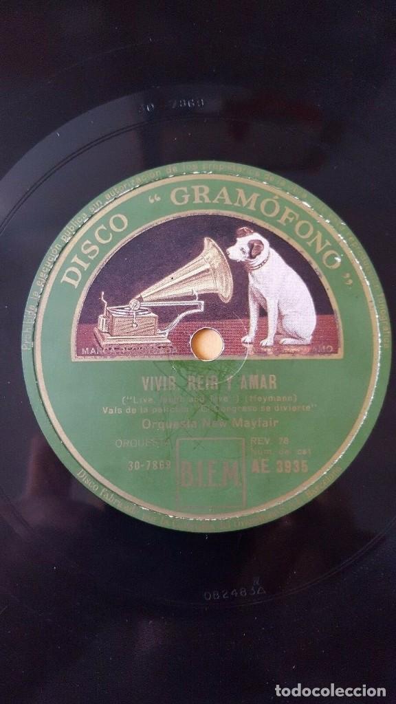 Discos de pizarra: DISCO 78 RPM - GRAMOFONO - ORQUESTA NEW MAYFAIR - EL CONGRESO SE DIVIERTE - FILM - HEYMANN - PIZARRA - Foto 2 - 150726026