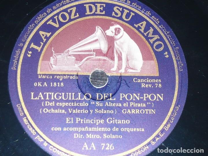 DISCO 78 RPM - VSA - EL PRINCIPE GITANO - ORQUESTA - ROSITA DE ALEJANDRIA - GARROTIN - PIZARRA (Música - Discos - Pizarra - Flamenco, Canción española y Cuplé)