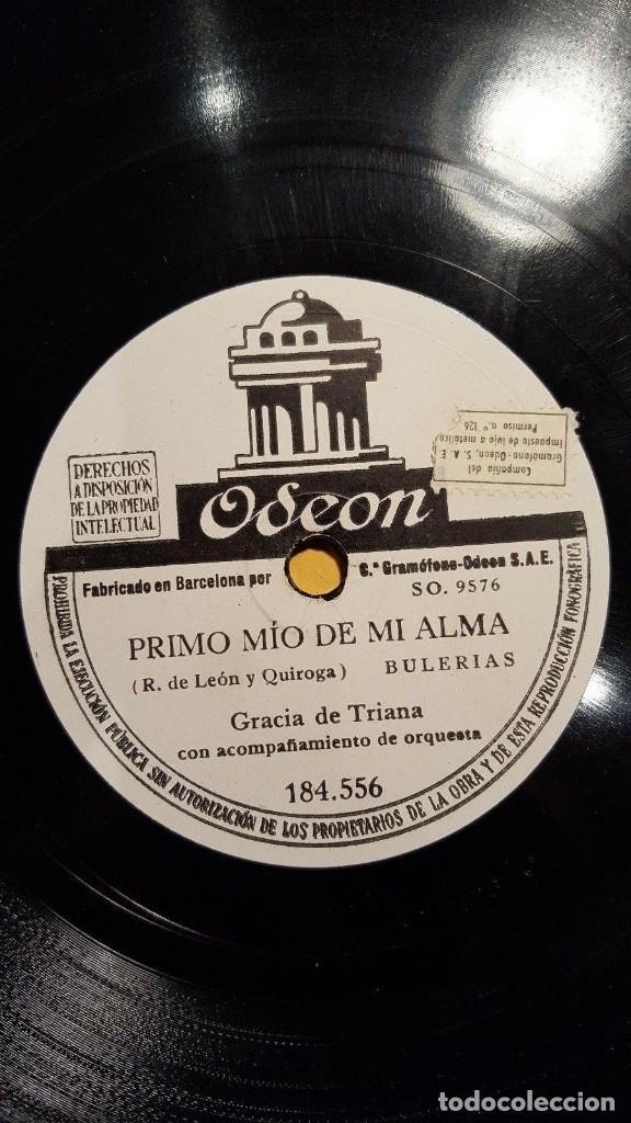 Discos de pizarra: DISCO 78 RPM - ODEON - GRACIA DE TRIANA - ORQUESTA - ZAMBRA - BULERIAS - PIZARRA - Foto 2 - 150748466