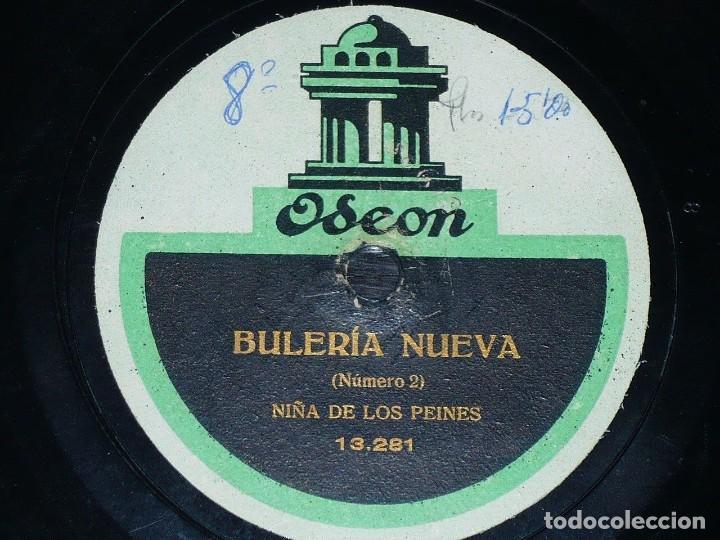 DISCO 78 RPM - ODEN - NIÑA DE LOS PEINES - TARANTAS DE LA GRABIELA - BULERIA NUEVA - PIZARRA (Música - Discos - Pizarra - Flamenco, Canción española y Cuplé)