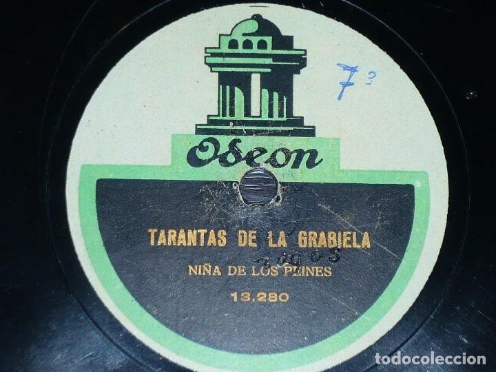 Discos de pizarra: DISCO 78 RPM - ODEN - NIÑA DE LOS PEINES - TARANTAS DE LA GRABIELA - BULERIA NUEVA - PIZARRA - Foto 2 - 150756630