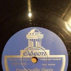 DISCO 78 RPM - ODEON - NIÑO MARCHENA - BORRULL - GUITARRA - FANDANGUILLO NUEVO - MILONGA - PIZARRA