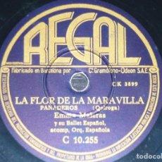 Discos de pizarra: DISCO 78 RPM - REGAL - EMMA MALERAS - RAMON ARAQUE - ORQUESTA - FARRUCA - PANADEROS - PIZARRA. Lote 151075482