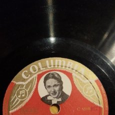 Shellac Records - DISCO 78 RPM - COLUMBIA FOTO - GRACIA DE TRIANA - PERICO EL DEL LUNAR - GUITARRA - PIZARRA - 151089006