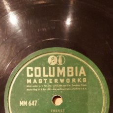 Discos de pizarra: DISCO 78 RPM - COLUMBIA - CHARLES TRENET - FRANCIA - BIGUINE A BANGO - ANNIE - ANNA - PIZARRA. Lote 151194182