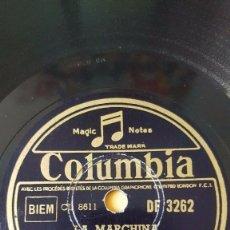Discos de pizarra: DISCO 78 RPM - COLUMBIA - JACQUES HELIAN - FRANCIA - ORQUESTA - LA MARCHINA - SAMBA - PIZARRA. Lote 151281190