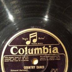 Discos de pizarra: DISCO 78 RPM - COLUMBIA - ORCHESTRE SYMPHONIQUE DU LUTETIA WAGRAM - COUNTRY DANCE - PIZARRA. Lote 151292262