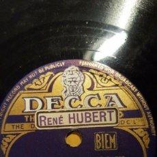 Discos de pizarra: DISCO 78 RPM - DECCA - JO MOUTET - ENSEMBLE MUSETTE - DUJAY - MACOU MACOUBA - RUMBA - PIZARRA. Lote 151300606