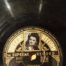 Discos de pizarra: DISCO 78 RPM - DECCA FOTO - TOHAMA - EMILE DELTOUR - ORQUESTA - TU MENS - TANGO - SLOW - PIZARRA. Lote 151355586