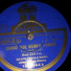 Discos de pizarra: DISCO GRAMOFONO RICO'S CREOLE BAND - CUBA IN PARIS 1947-1951 CHIBO QUE ROMPE TAMBO LOS TRES GOLPES. Lote 151375670