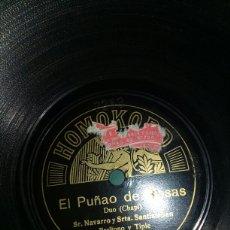 Discos de pizarra: EL PUÑAO DE ROSAS. Lote 151440593
