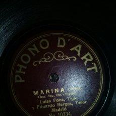 Discos de pizarra: MARINA. Lote 151450616