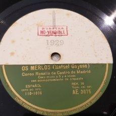 Discos de pizarra: DISCO 78 FOLKLORE GALLEGO MUY RARO.. Lote 151482278
