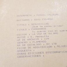 Discos de pizarra: DISCO 78 RPM MANUEL VALLEJO. Lote 151481145