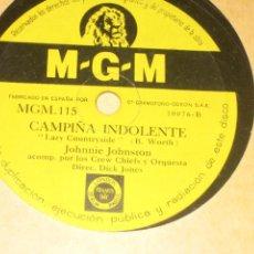 Discos de pizarra: JOHNNIE JOHNSTON - CAMPIÑA INDOLENTE - PERDONANDOTE . Lote 151516982